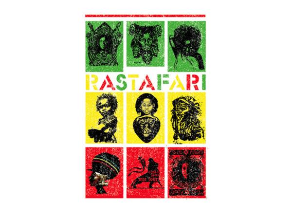 Rastafari Green Yellow Red White Tee-Shirt