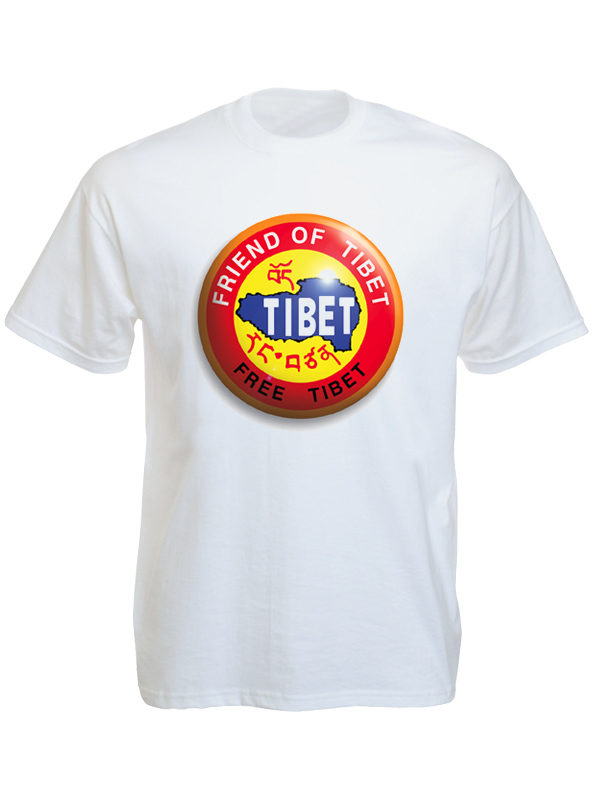 Free Tibet Friend of Tibet White Tee-Shirt