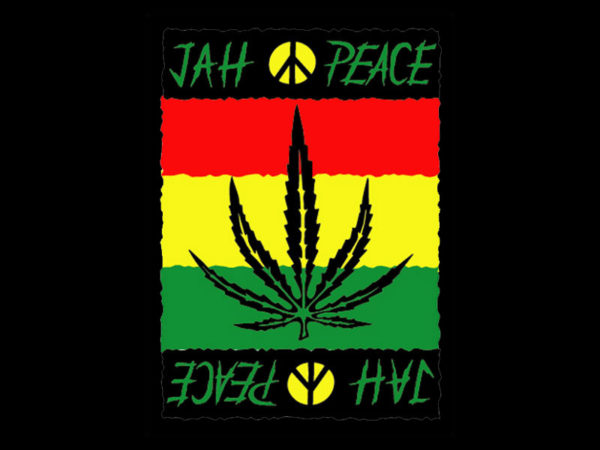 Jah Peace Rasta Black Tee-Shirt