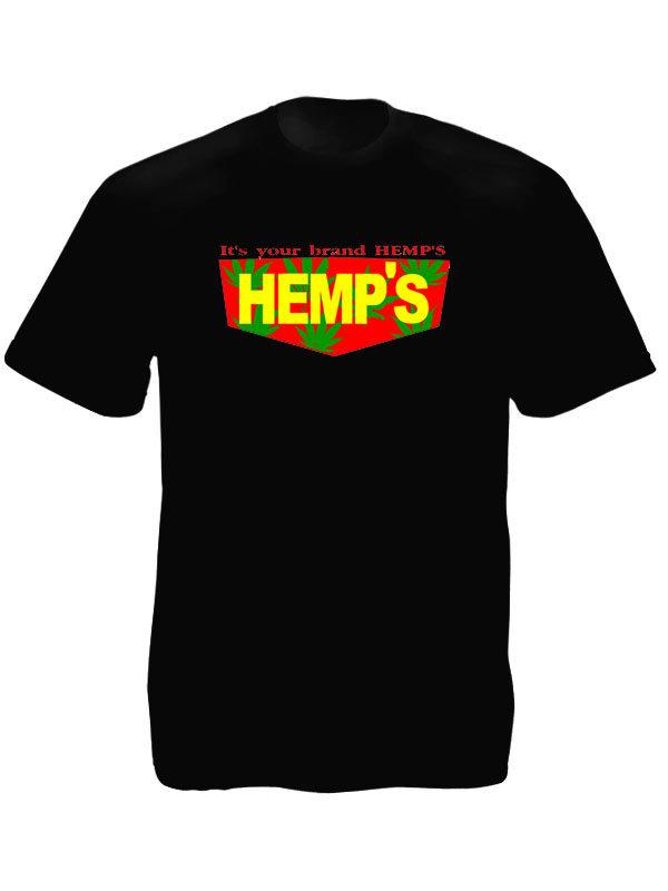 Hemp Brand Black Tee-Shirt