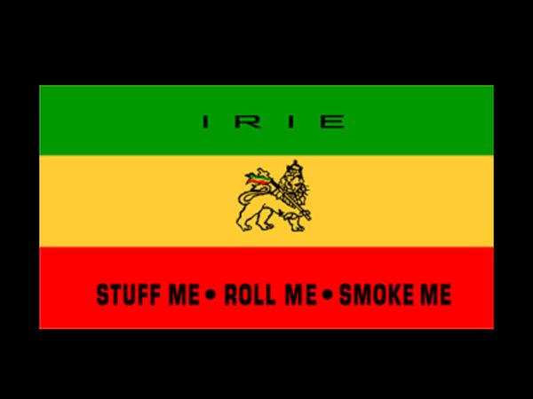 Irie Stuff Me Roll Me Smoke Me Black Tee-Shirt
