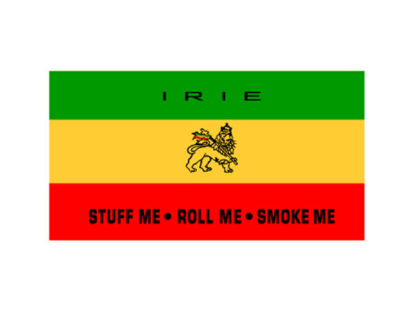 Irie Stuff Me Roll Me Smoke Me White Tee-Shirt