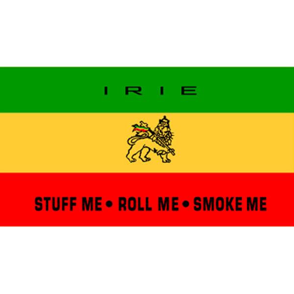 Irie Stuff Me Roll Me Smoke Me White Tee-Shirt