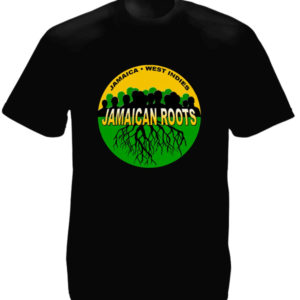 Jamaican Roots West Indies Black Tee-Shirt