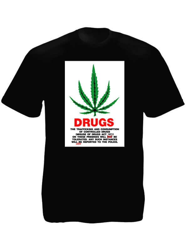 United Kingdom Drug Act 1971 Black Tee-Shirt