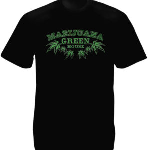 Marijuana Green House Black Tee-Shirt