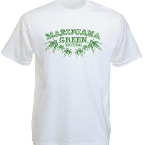 Marijuana Green House White Tee-Shirt
