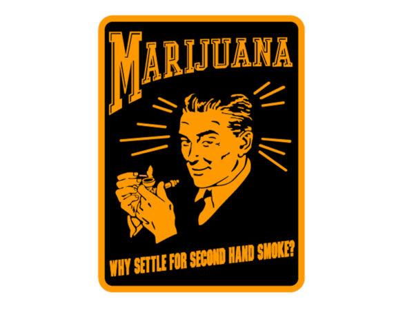 Marijuana Advertising Retro Poster White Tee-Shirt