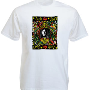 Psychedelic Colors Rasta Root White Tee-Shirt
