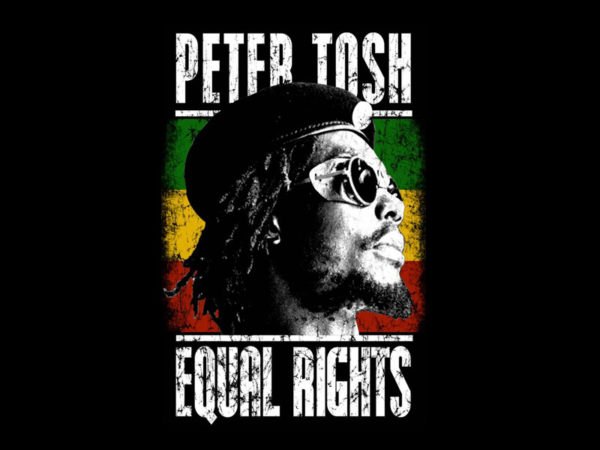 Peter Tosh Equal Rights Black Tee-Shirt