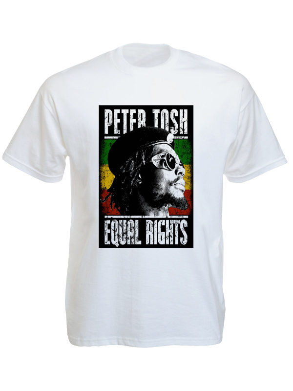 Peter Tosh Equal Rights White Tee-Shirt