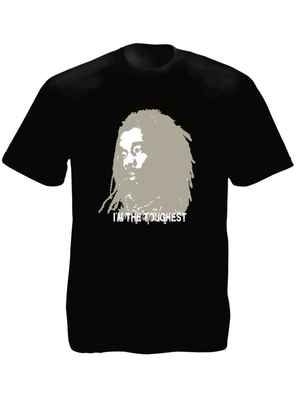Peter Tosh I'm The Toughest Black Tee-Shirt