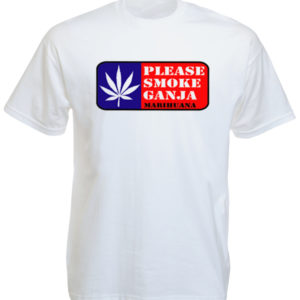 Please Smoke Ganja White Tee-Shirt