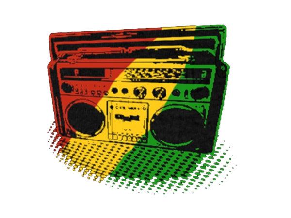 Green Yellow Red Rasta Radio White Tee-Shirt
