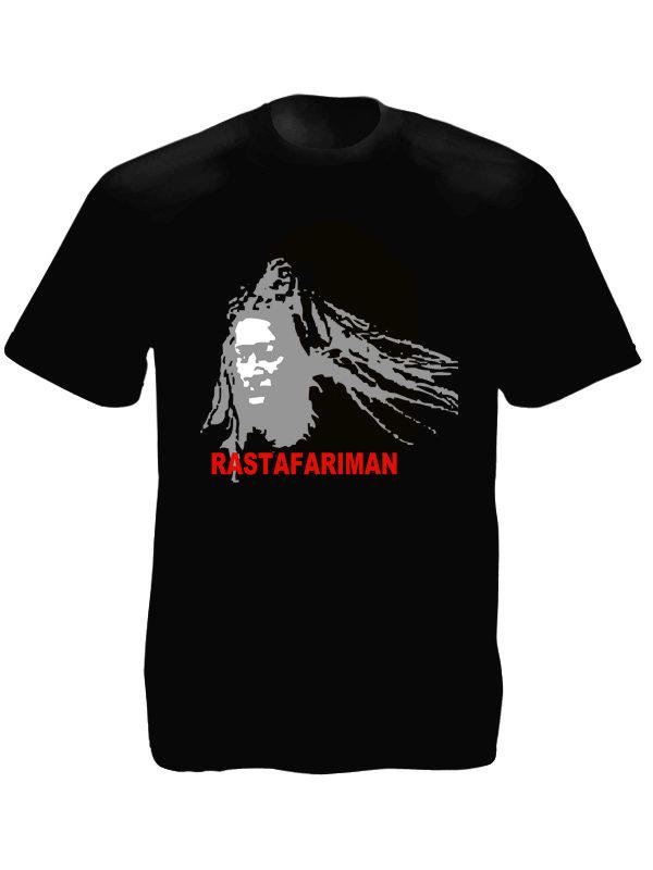 T-Shirt Noir Rastafari Man