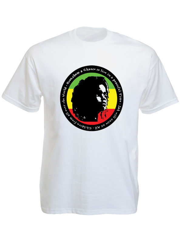 Rasta Kid for Peace White Tee-Shirt