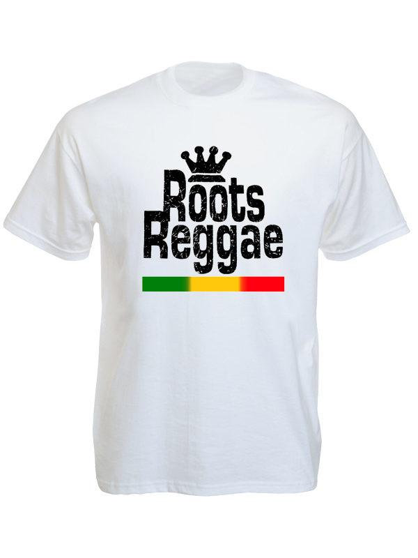 Roots Reggae White Tee-Shirt