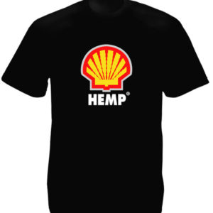 Hemp Shell Logo Black Tee-Shirt