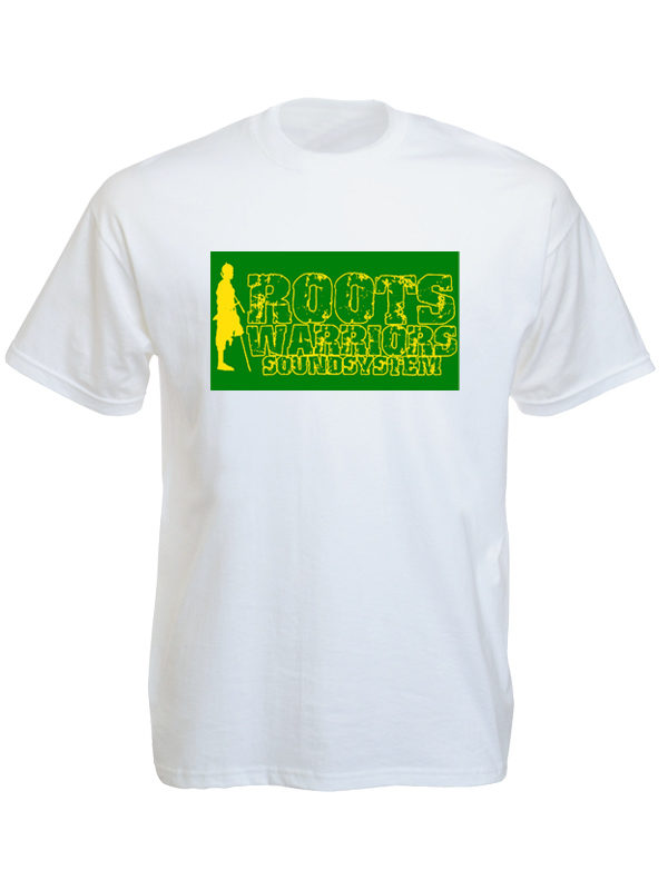 Roots Warriors Sound System White Tee-Shirt