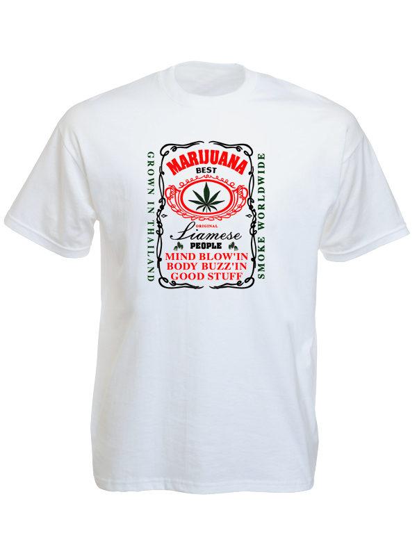 Thailand Best Marijuana White Tee-Shirt