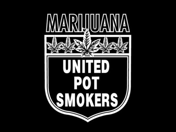 Marijuana United Pot Smokers Black Tee-Shirt
