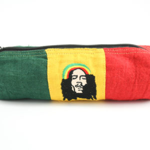 Pencil Case Hemp Rastaman Green Yellow Red
