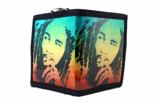 Wallet Vinyl Rastaman Green Yellow Red